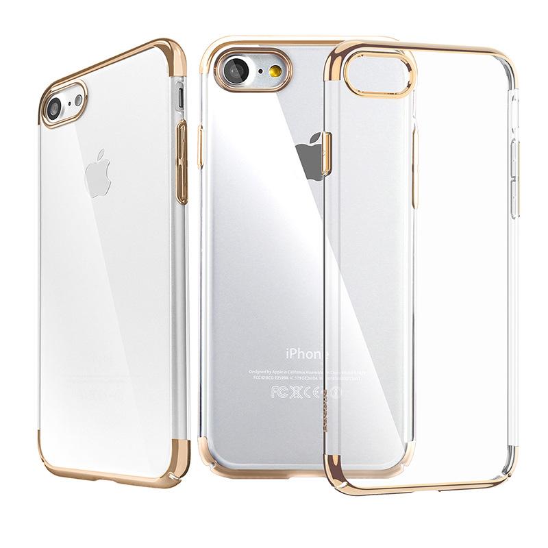 Baseus Slim Case For iPhone 7/8/SE 2020 Transparent Gold