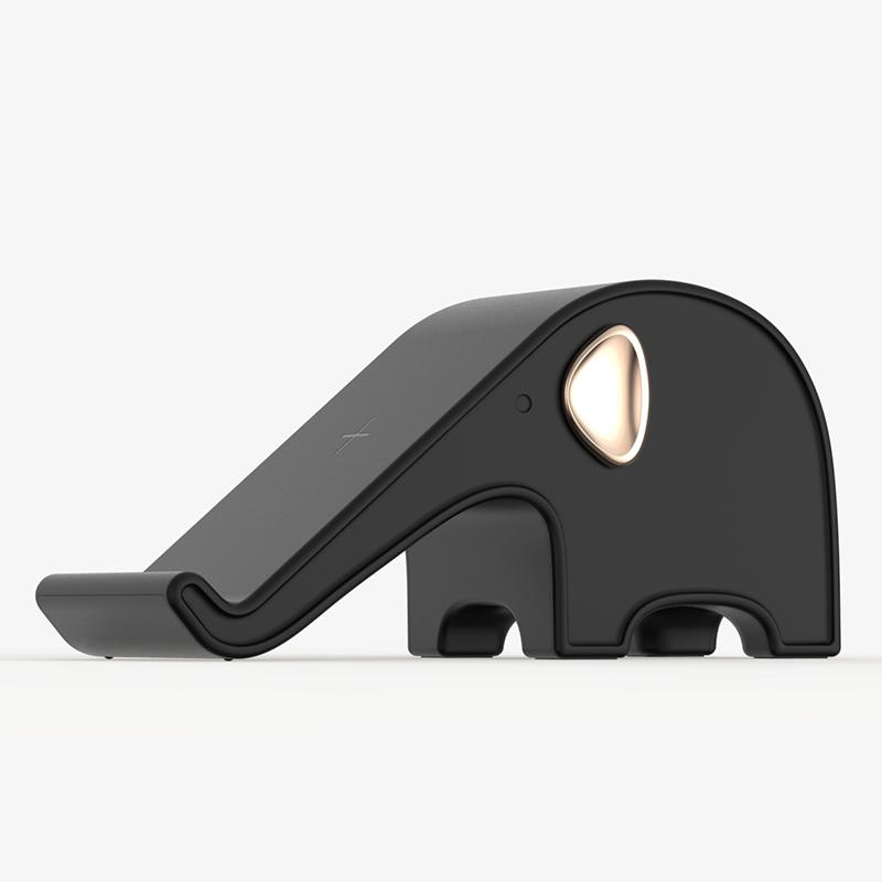 3Life Elephant Wireless Charger Black