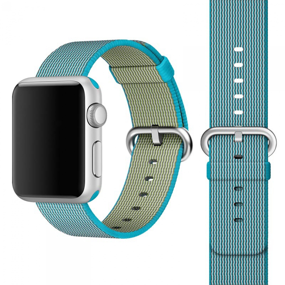 Coteetci W11 Nylon Band Blue for Apple Watch 42mm (WH5215-BL)