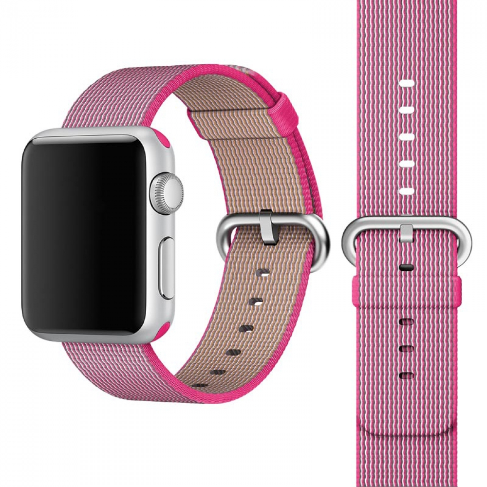 Coteetci W11 Nylon Band Pink for Apple Watch 42mm (WH5215-PK)