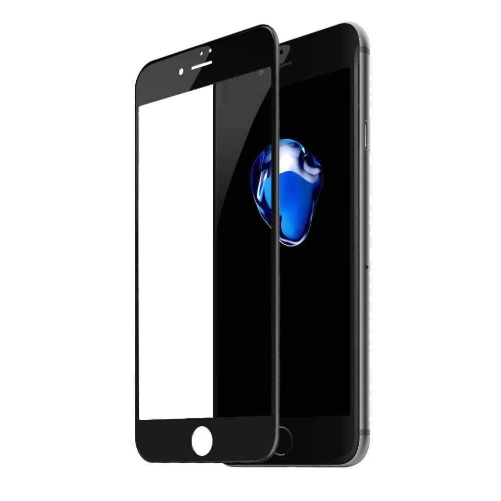 Baseus 0.23mm Anti-break Edge All-screen Arc-surface Tempered Glass For iPhone 7/iPhone 8 Black (SGAPIPH8N-PE01)