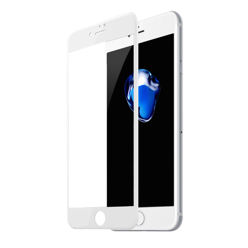 Baseus 0.3mm All-screen Arc-surface Tempered Glass For iPhone 7/8 Plus White (SGAPIPH8P-KA02)