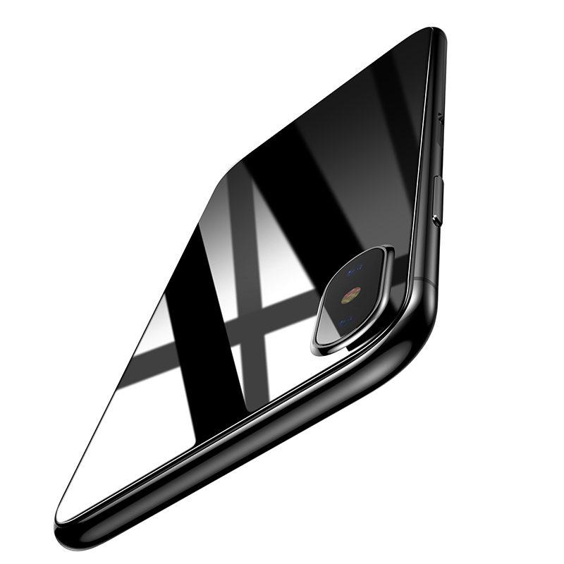 Baseus 0.3mm Silk-screen Back Glass Transparent For iPhone X