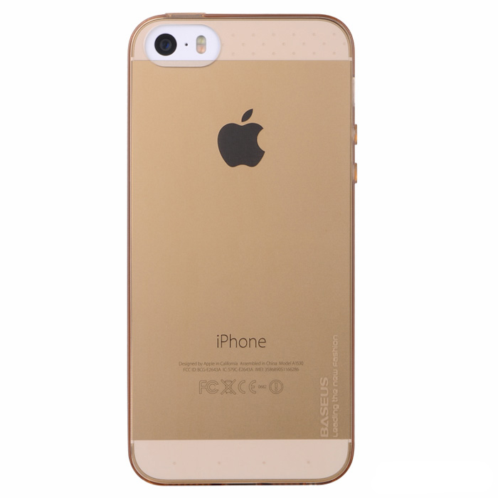Baseus Slim Case Transparent iPhone5/5s/SE Gold