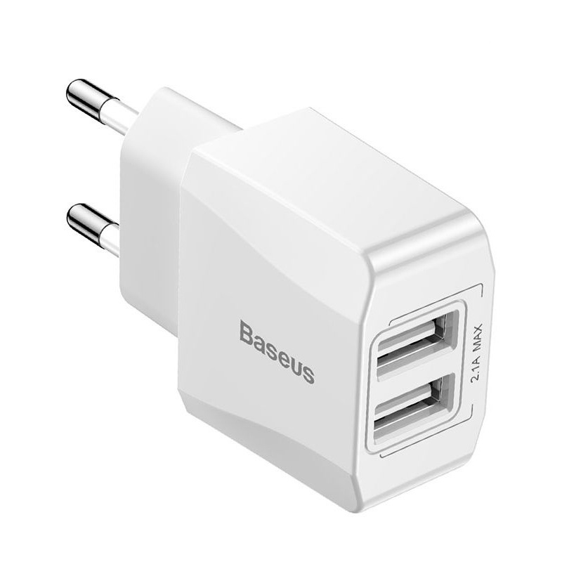 Baseus Mini Dual-U Charger EU 2.1A White (CCALL-MN02)