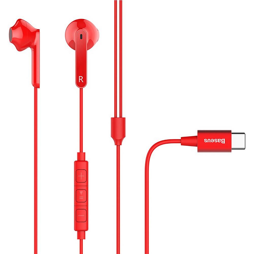 Baseus Encok Wire Earphone C16 Red (NGC16-09)