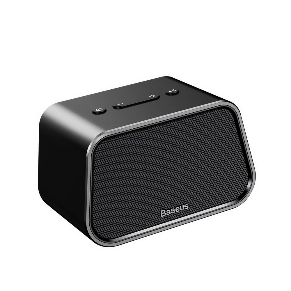 Baseus Encok Multi-functional wireless speaker E02 (Aluminum alloy+U disk/TF card/AUX) Black (NGE02-01)