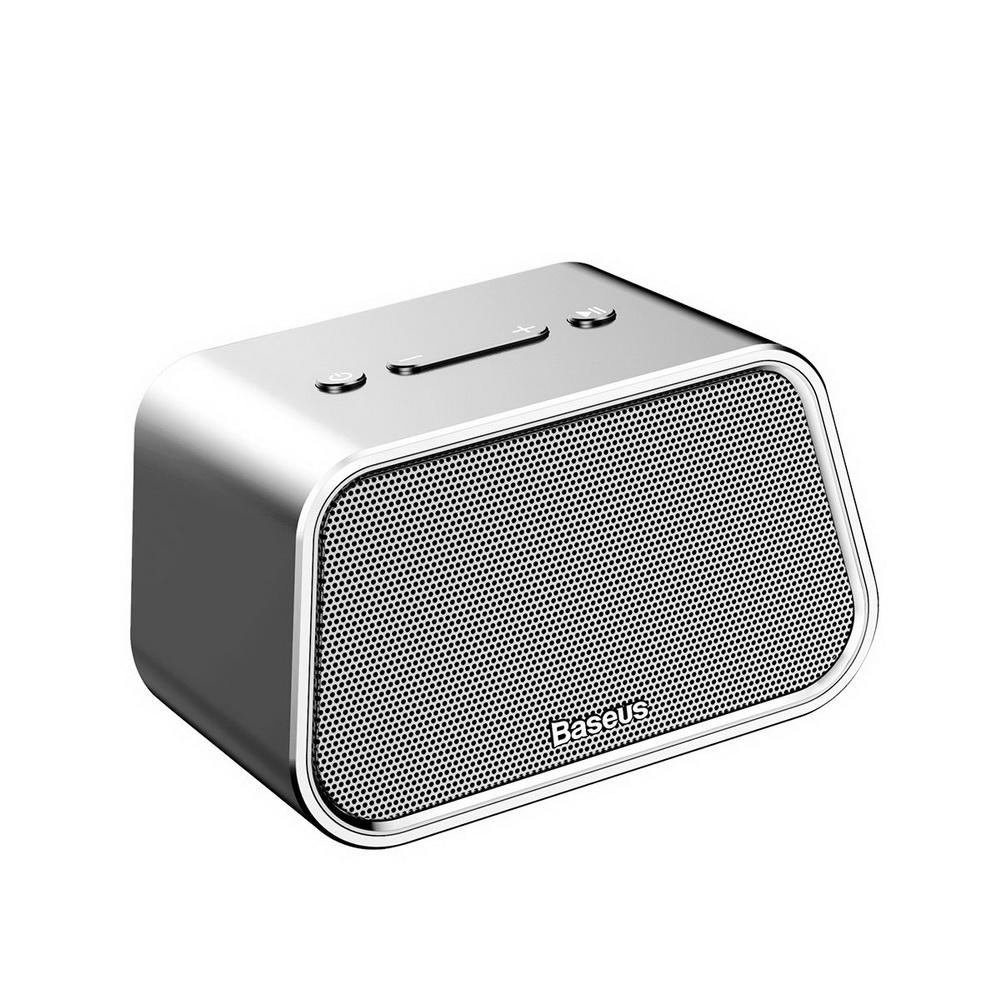 Baseus Encok Multi-functional wireless speaker E02 (Aluminum alloy+U disk/TF card/AUX) Silver (NGE02-0S)