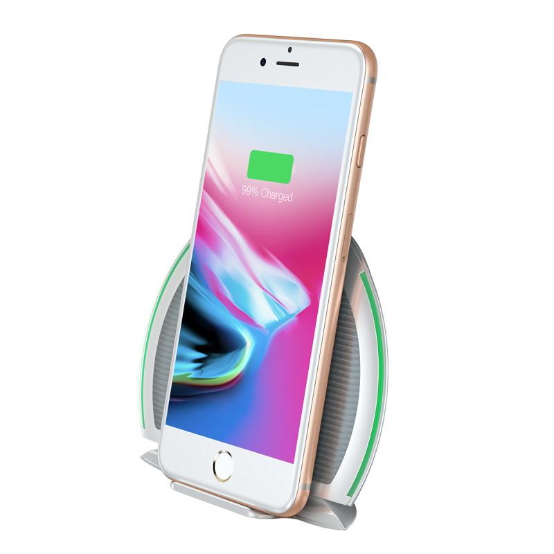 Baseus Foldable Multifunction Wireless Charger white+gray (WXZD-02)
