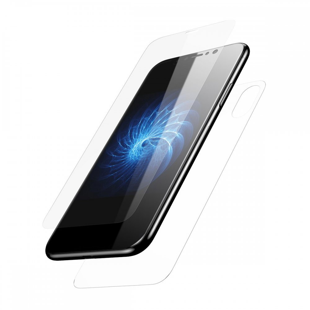 Baseus Glass Set (Front glass + Back glass) Transparent For iPhone X