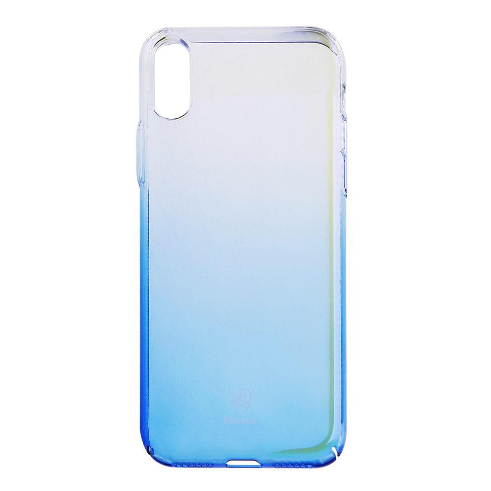 Baseus Glaze Case Transparent Blue For iPhone X/XS (WIAPIPH8-GC03)