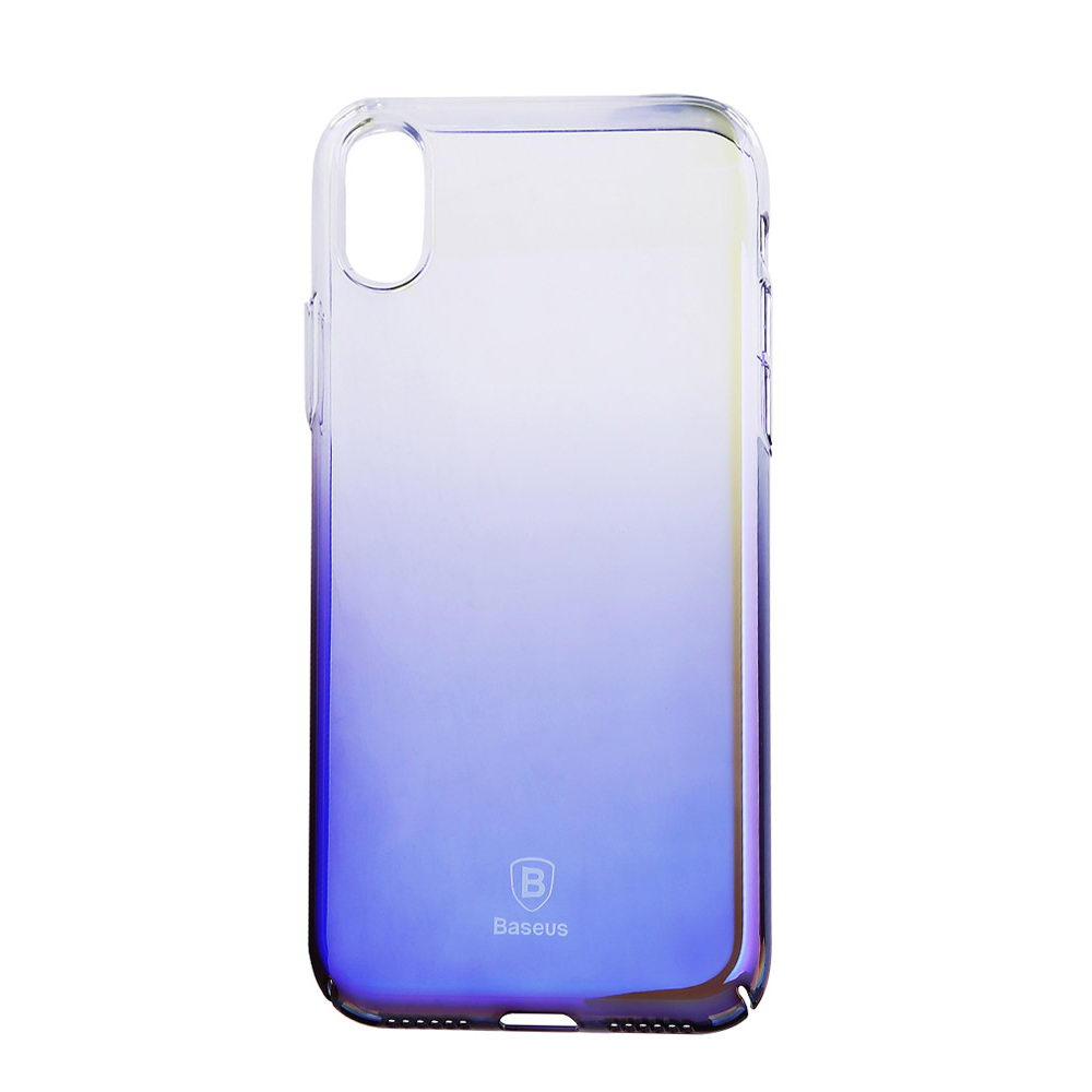 Baseus Glaze Case Transparent Black For iPhone X/XS (WIAPIPH8-GC01)
