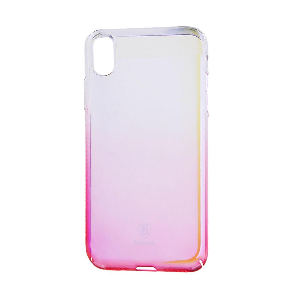 Baseus Glaze Case Transparent Pink For iPhone X/XS (WIAPIPH8-GC04)
