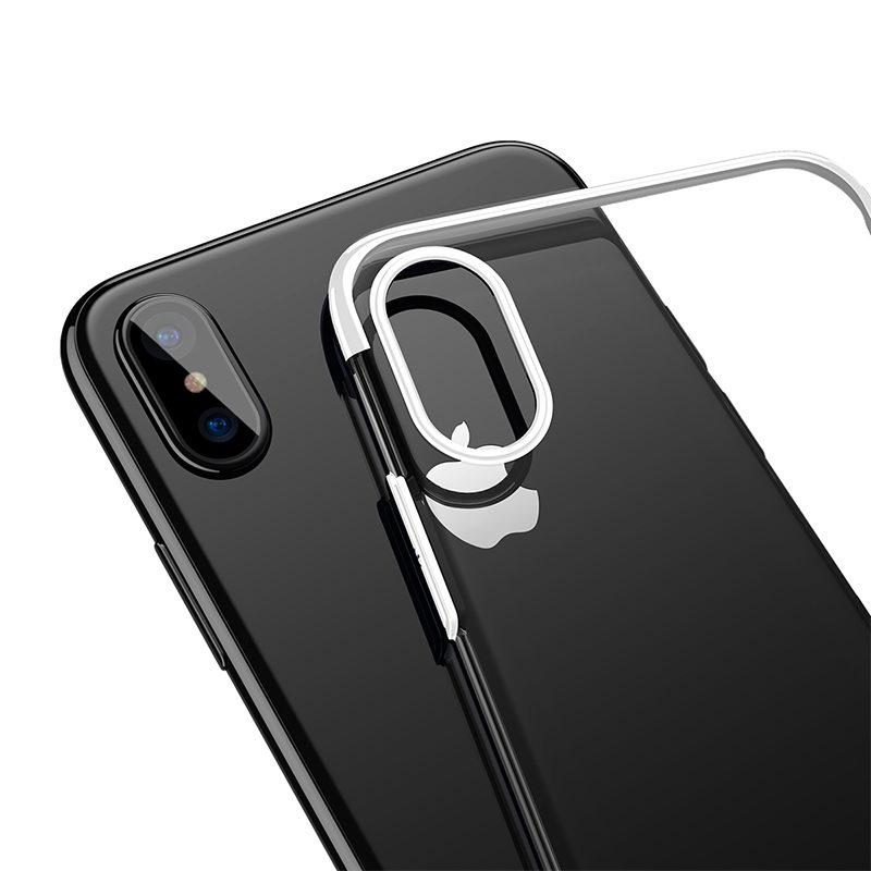 Baseus Glitter Case White For iPhone X/XS