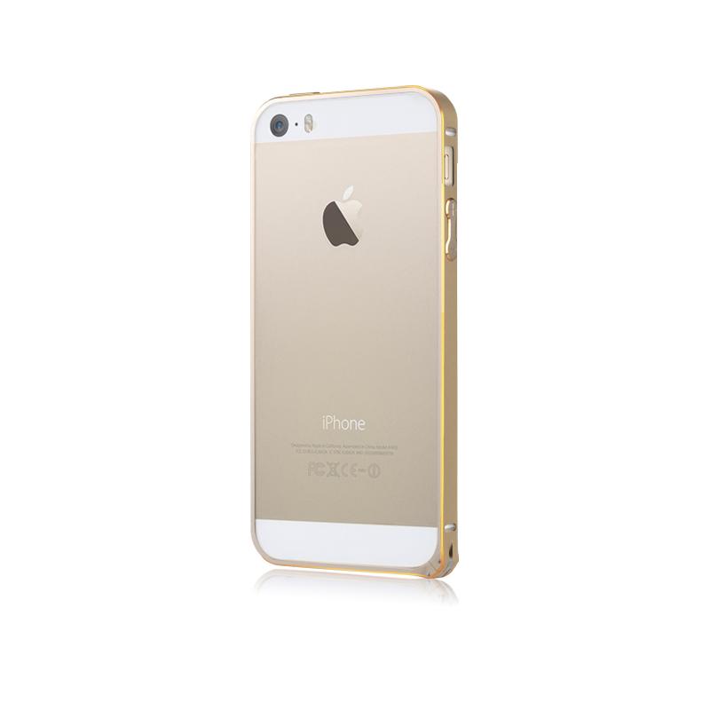 Baseus Golden Light Aluminium Bumper for iPhone 5/5S Gold