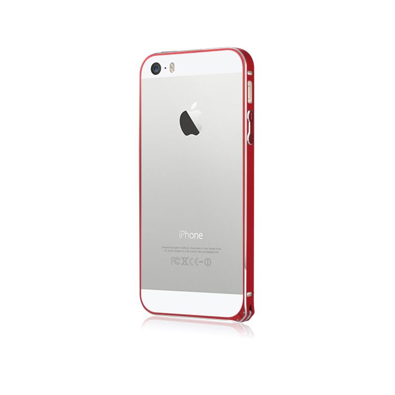 BASEUS Golden Light Aluminium Bumper for iPhone 5/5S Red