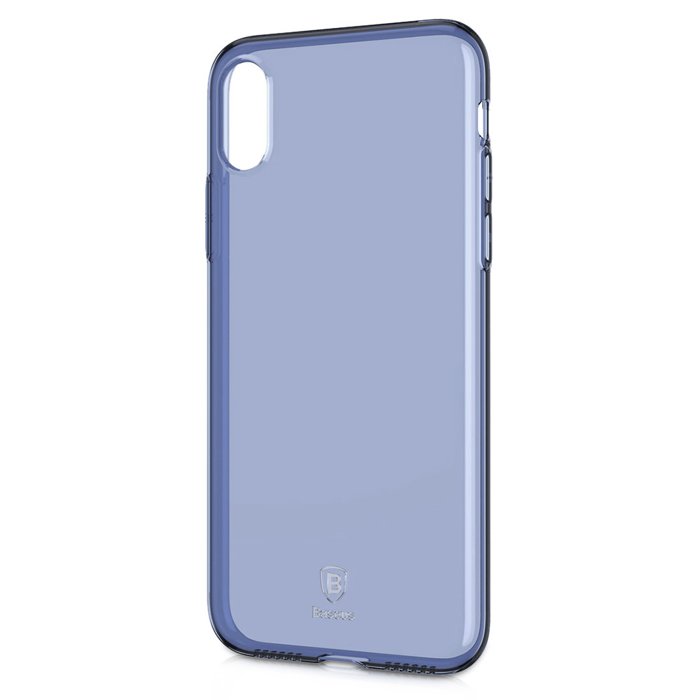 Baseus Simple Series Case Transparent Blue For iPhone X/XS