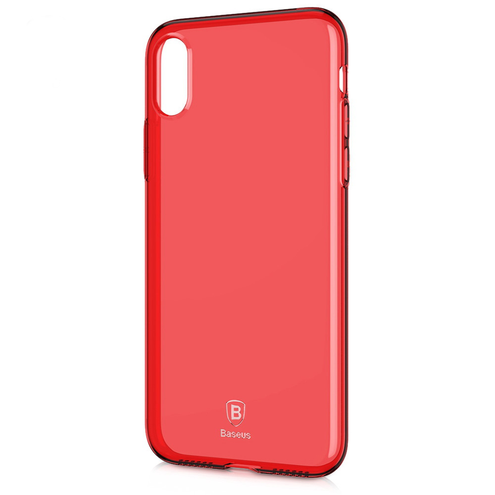 Baseus Simple Series Case Transparent Red For iPhone X/XS (ARAPIPH8-B09)