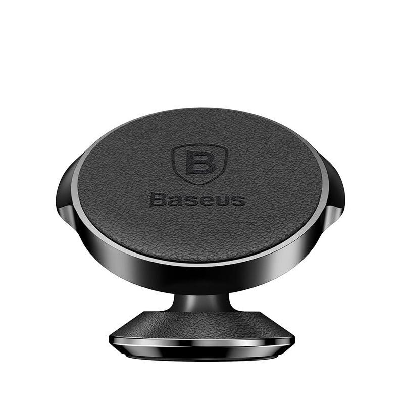Baseus Small Ears Series Vertical Magnetic Bracket (Genuine Leather Type) Black (SUER-F01)