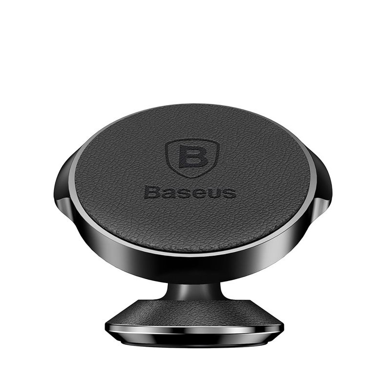 Baseus Small Ears Series Vertical Magnetic Bracket (Genuine Leather Type) Black (SUER-F01)