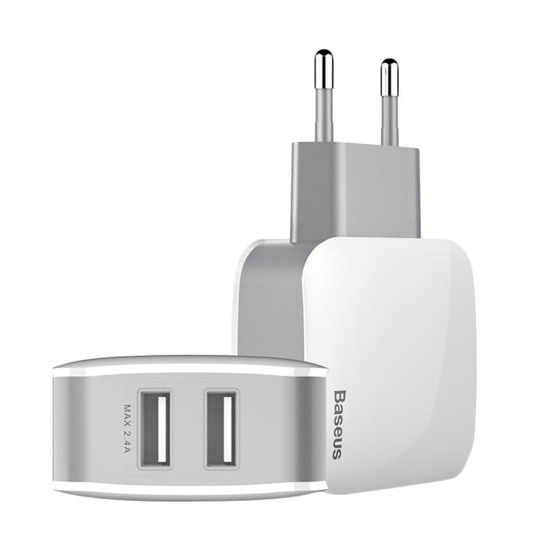 Baseus Letour Dual USB Charger (CN) White + Gray