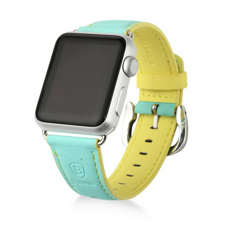 Baseus Colorful watchband For Apple watch 42mm Green-yellow