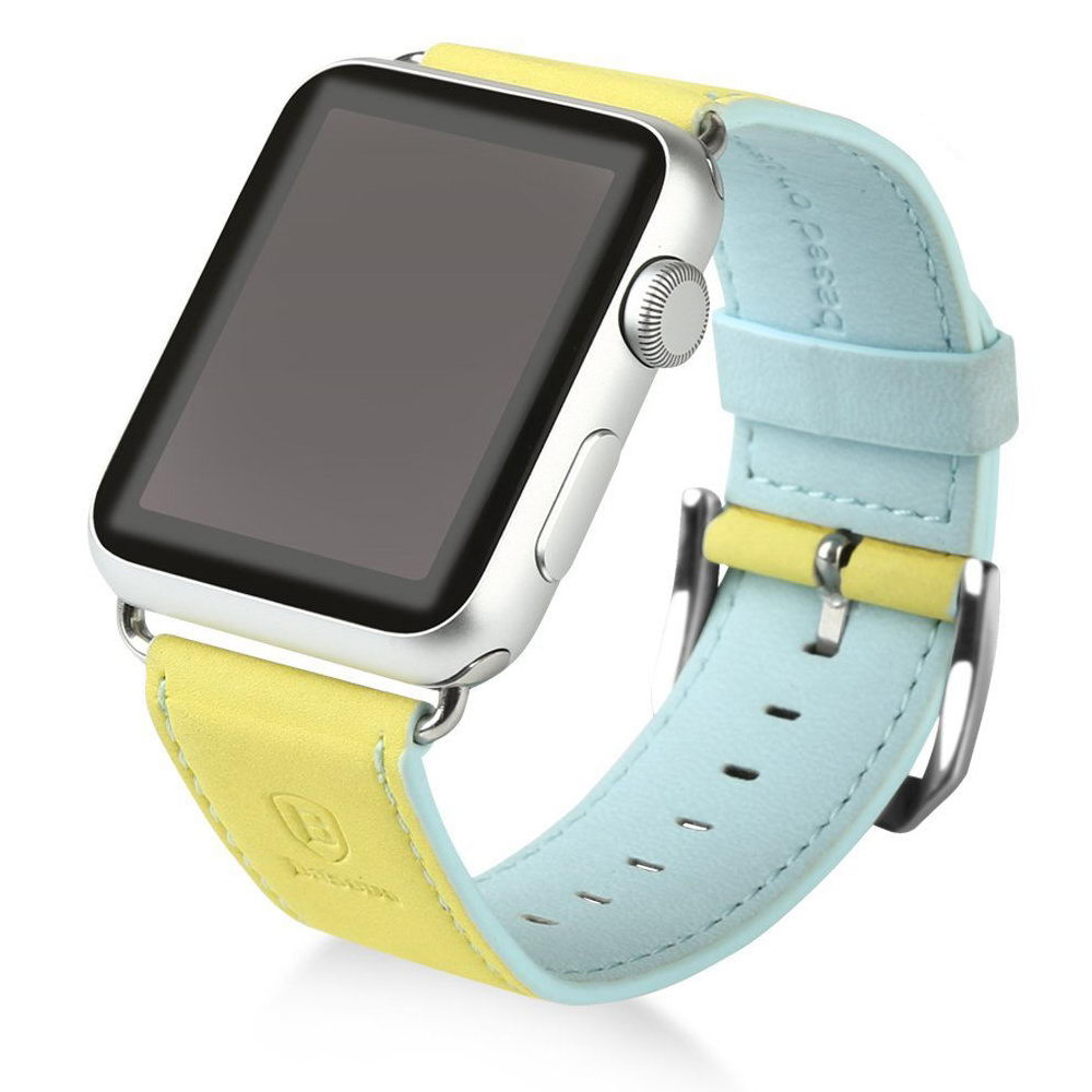 Baseus Colorful watchband For Apple watch 42mm Yellow-blue
