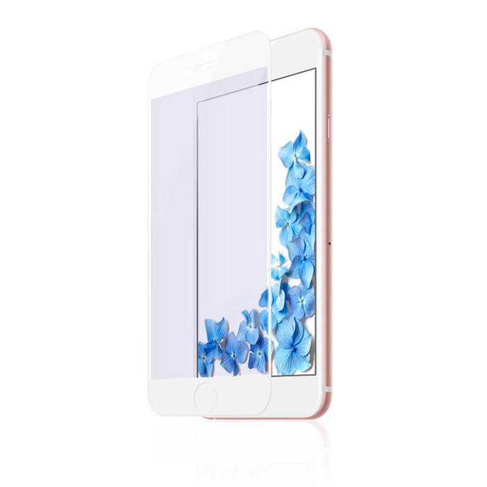 Baseus 0.3mm All-screen Arc-surface Anti-bluelight Tempered Glass For iPhone 7/8 White (SGAPIPH8N-KB02)