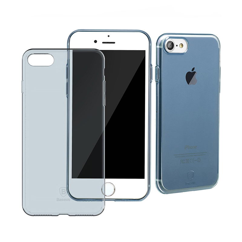 Baseus Simple Series Case (Clear) For iPhone 7/8/SE 2020 Transparent Blue