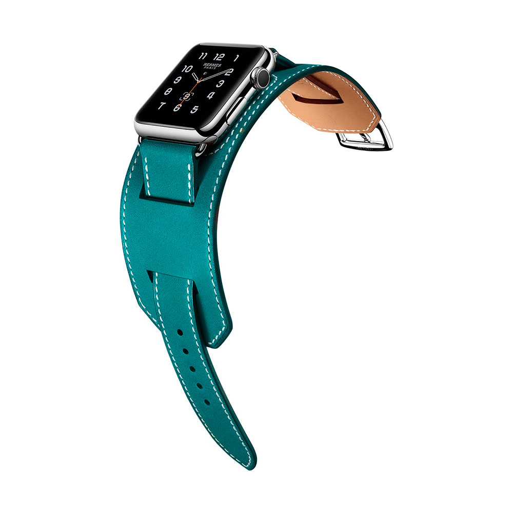 COTEetCI W10 Fashion Leather Band for Apple Watch 38mm Blue (WH5211-BL)