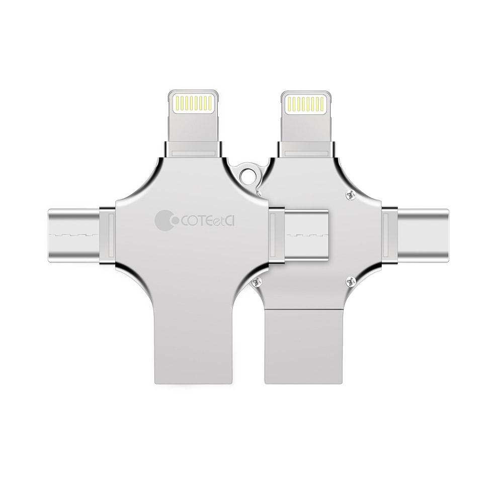 Coteetci 4-in-1 Zinc Alloy iUSB 128Gb (CS5129-128G)