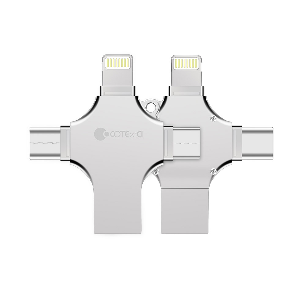 Coteetci 4-in-1 Zinc Alloy iUSB 32Gb (CS5129-32G)