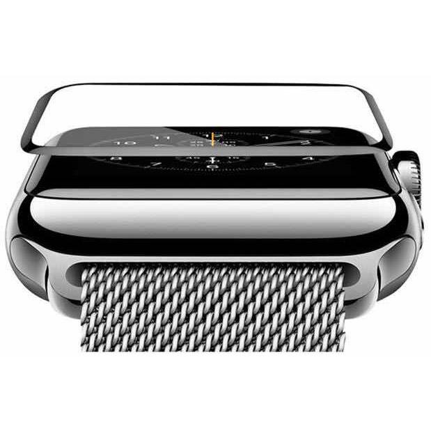COTEetCI 4D Black-Rim Full Viscosity Glass for Apple Watch 3/2/1 38mm (CS2213-38)