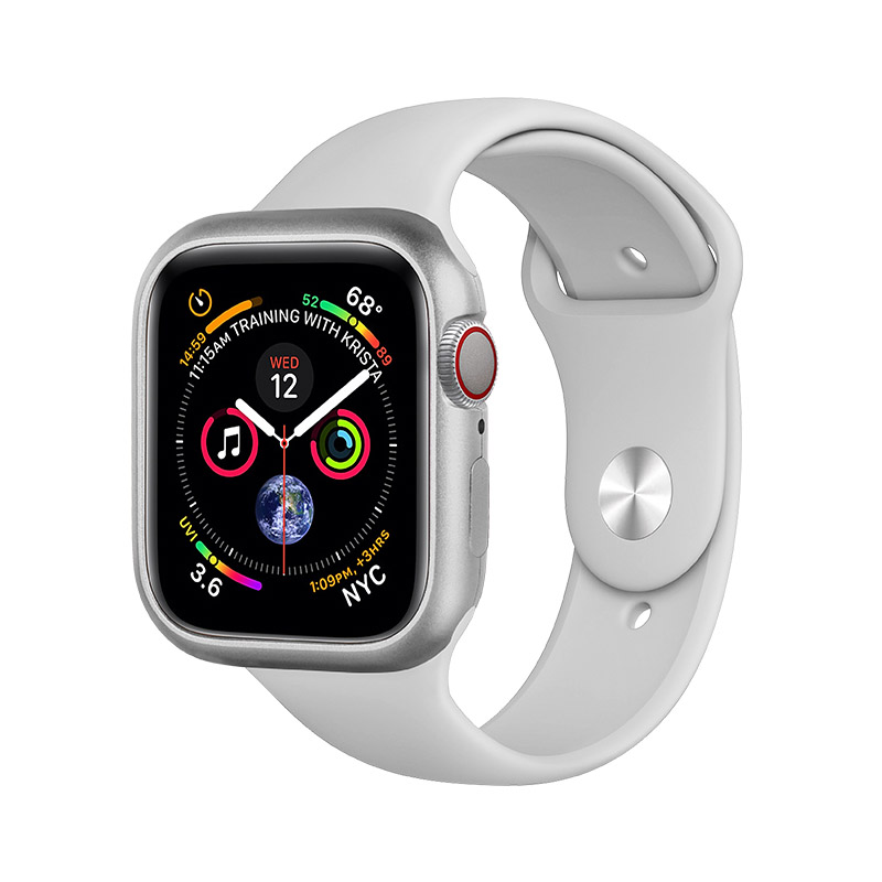 COTEetCI Aluminum Magnet Case Silver For Apple Watch 4/5/6/SE 40mm (CS7057-TS)