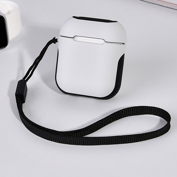 COTEetCI Airpods Armor Case White + Black (CS8123-WB)