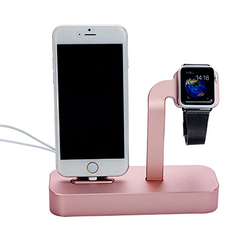 COTEetCI Base5 2-in-1 iPhone & Apple watch Stand Rose Gold