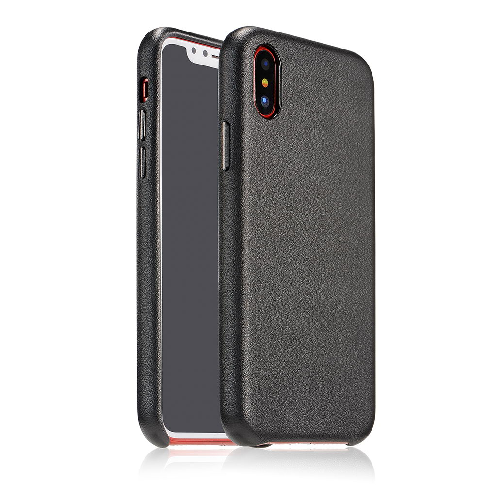COTEetCI Elegant PU Leather Case For iPhone X/XS Black (CS8011-BK)