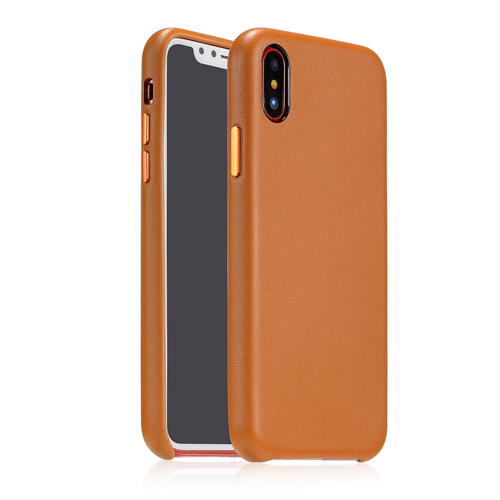 COTEetCI Elegant PU Leather Case For iPhone X/XS Brown (CS8011-BR)