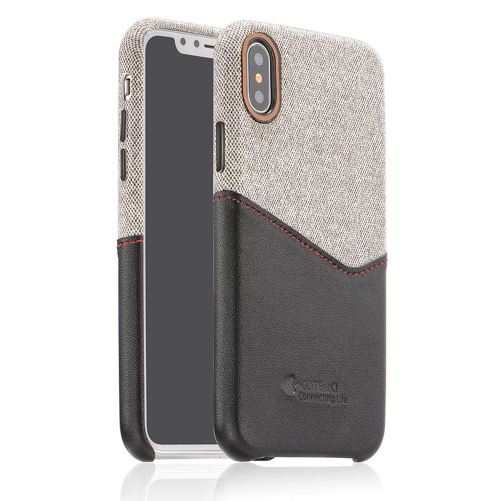 COTEetCI Max-Up Liquid Silicon Case for iPhone X/XS Black (CS8015-BK)