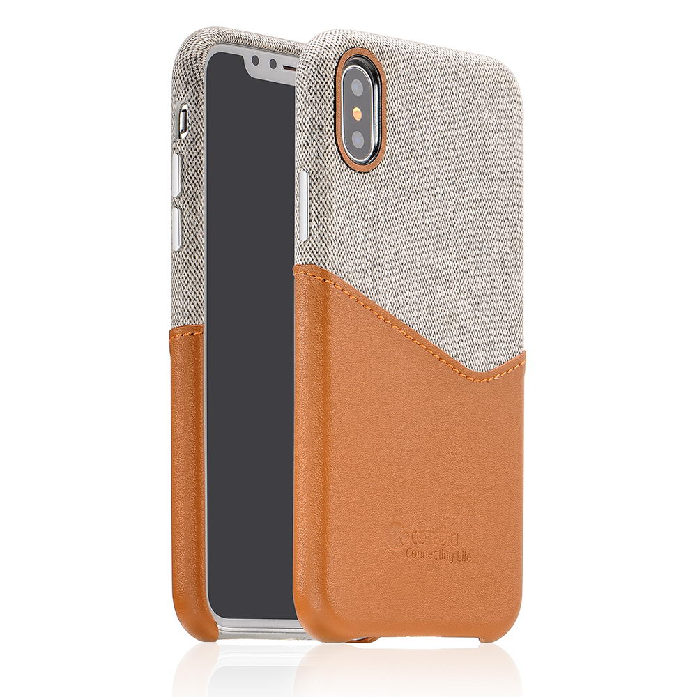 COTEetCI Max-Up Liquid Silicon Case for iPhone X/XS Brown (CS8015-BR)
