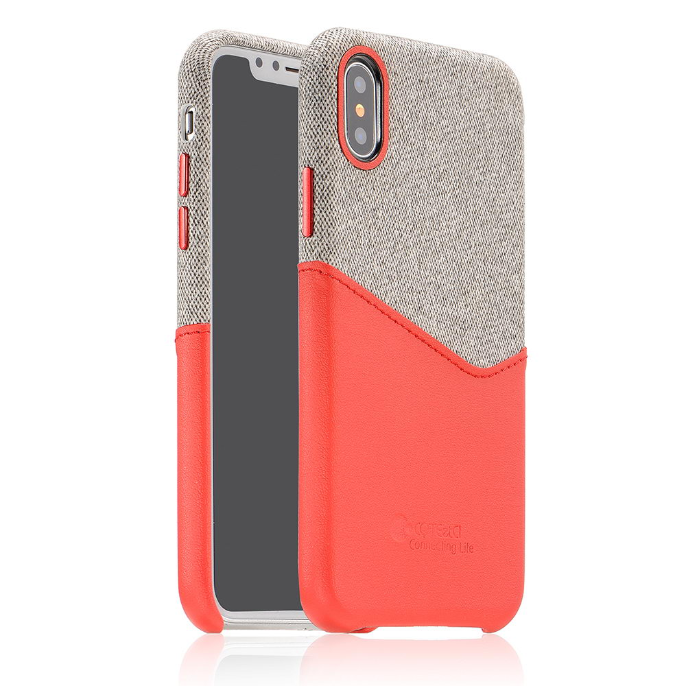 COTEetCI Max-Up Liquid Silicon Case for iPhone X/XS Red (CS8015-RD)