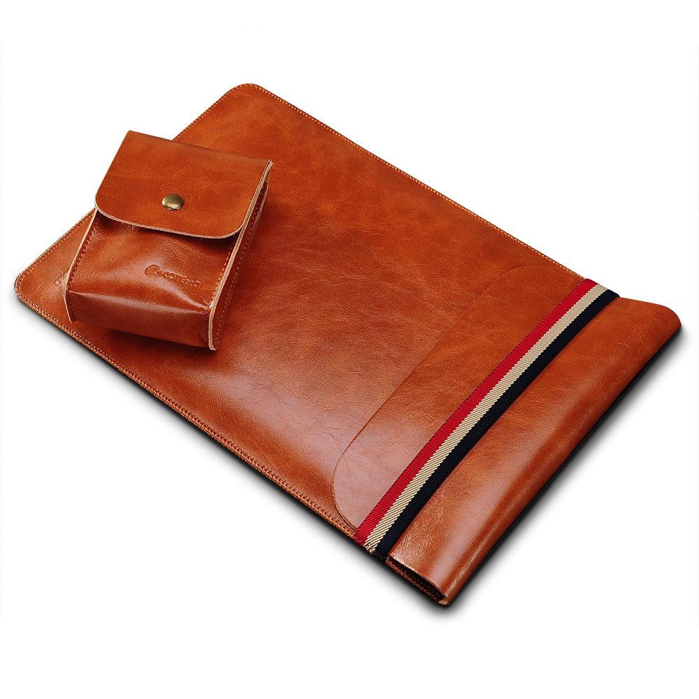 "COTEetCI Leather Sleeve Bag 11"" Brown (CS5127-BR)"