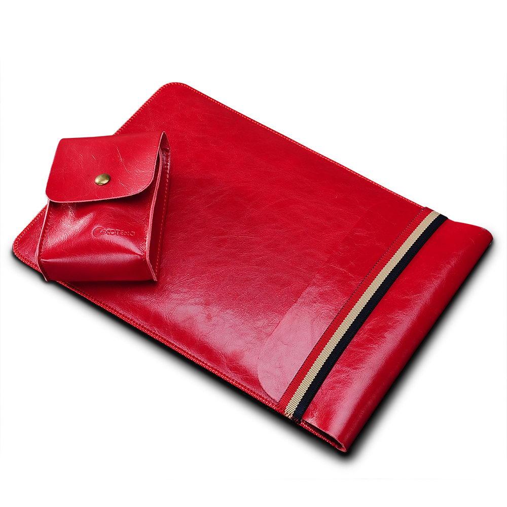 "COTEetCI Leather Sleeve Bag 13"" Red (CS5130-RD)"