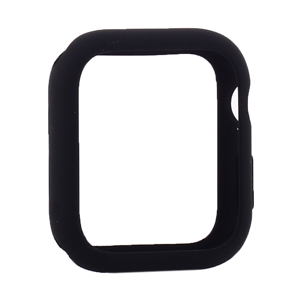 Coteetci Liquid Silicone Case For Apple Watch 4/5/6/SE 40mm Black (CS7067-BK)