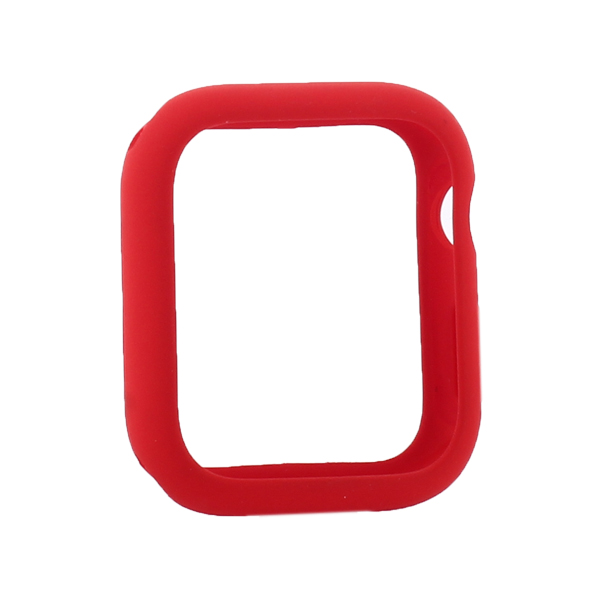 Coteetci Liquid Silicone Case For Apple Watch 4/5/6/SE 44mm Red (CS7068-RD)