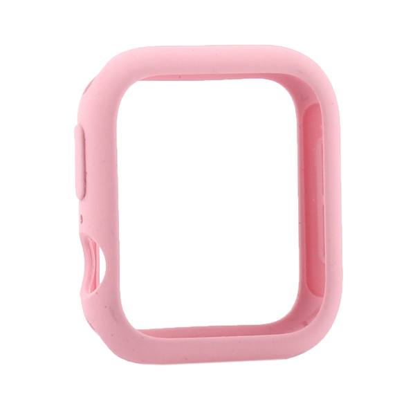 Coteetci Liquid Silicone Case For Apple Watch 4/5/6/SE 44mm Pink (CS7068-LP)