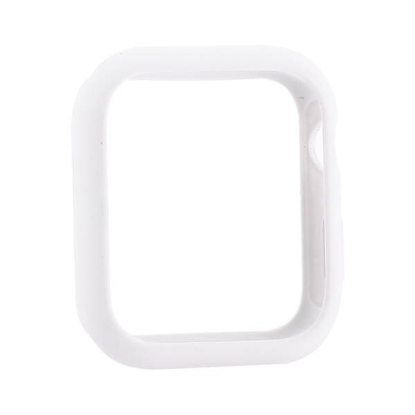 Coteetci Liquid Silicone Case For Apple Watch 4/5/6/SE 44mm White (CS7068-WH)
