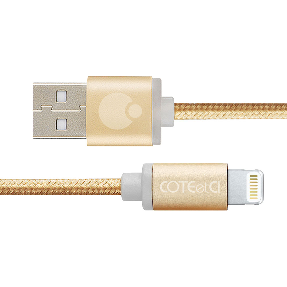 COTEetCI M30i Lightning Cable 1.2m Gold (CS2127-1.2M-GD)