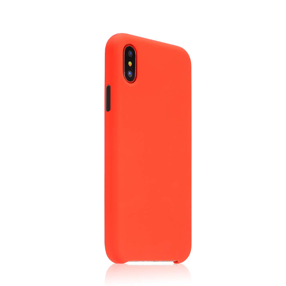 COTEetCI Mix Buttons Liquid Silicon Case for iPhone X/XS Red (CS8013-RD)