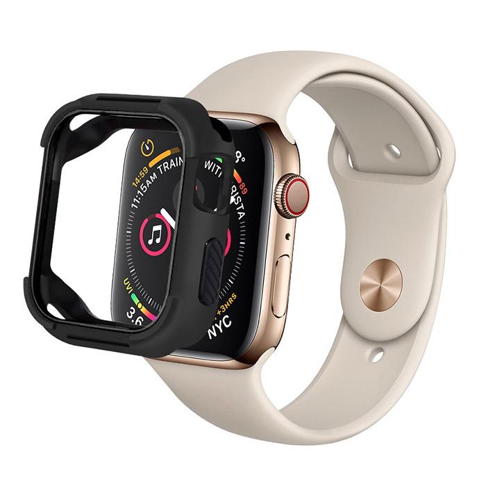 Coteetci PC+TPU Case For Apple Watch 4/5/6/SE 44mm Black (7052-BK)